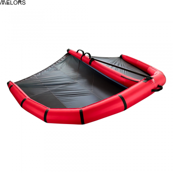 Inflatable surfboard wing foil